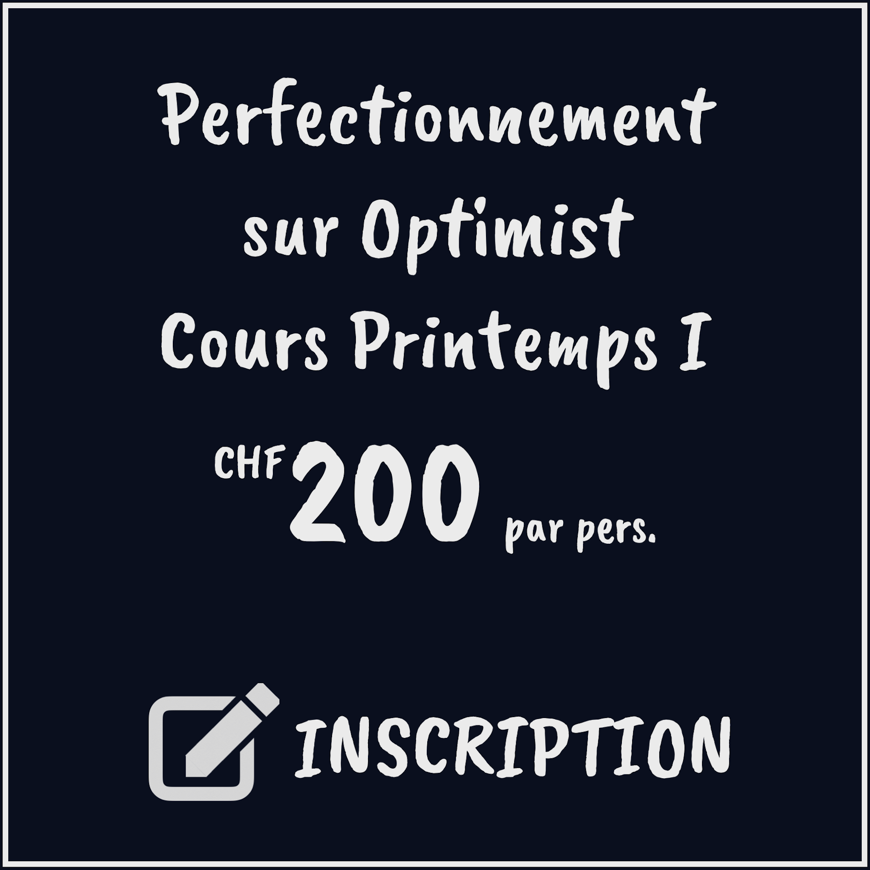Cours Printemps II Perfectionnement sur Optimist